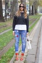 Zara jeans - Walet Voulaz shirt - Prada bag - Zara sweatshirt - Zara sandals