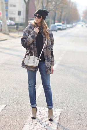 camo 070 Studio - Landi jacket - teal Diesel jeans - black beanie H&M hat