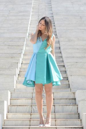 sky blue Maria grazia severi dress - ivory Valentino heels