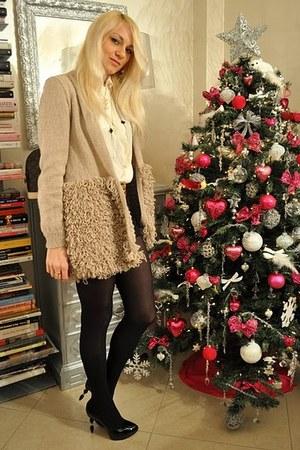 shirt - Grey Mer heels - Hand made by Lisa Couture sweater - Louis Vuitton purse
