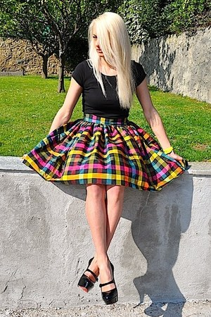 Christian Louboutin heels - Lisa Couture skirt