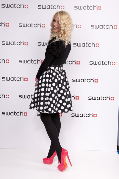 Kandee shoes - Forever 21 sweater - Prada bag - Lisa Couture skirt - Swatch watc