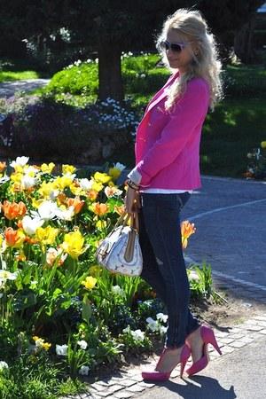 hollister jeans - Zara blazer - Louis Vuitton bag - Whos who sunglasses - asos h