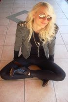 Zara jacket - Mugnai shoes - Ray Ban sunglasses