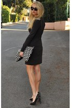 H&M dress - sam edelman heels - dior glasses