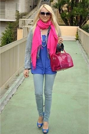 Cheap Monday jeans - D&G jacket - Furla bag - Whos who sunglasses - Zara heels -