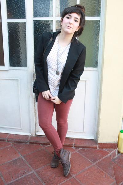 polka dot top vintage top - Cuesta Blanca leggings