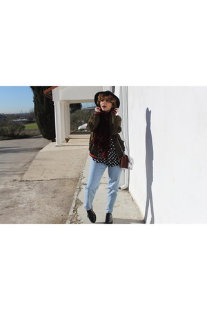 Zara jacket - pull&bear shoes - Zara bag