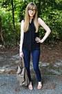 Gold-forever-21-necklace-navy-denim-dark-wash-forever-21-jeans
