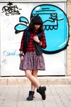black asos boots - black H&M vest