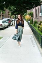 gianni versace shoes - Prada purse - H&M blouse - JCrew belt