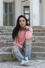 Periwinkle-zara-jeans-forever-new-shirt-pink-zara-sweatshirt