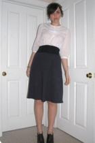 forever 21 blouse - American Apparel skirt - Rack Room shoes