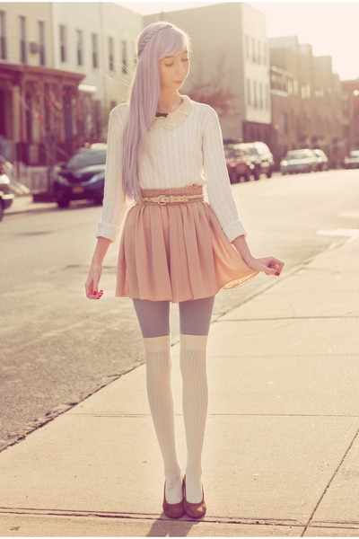 periwinkle American Apparel stockings