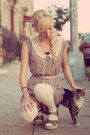 Tan-miss-patina-dress-pink-topshop-accessories