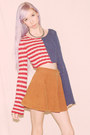 Navy-free-people-sweater-tawny-circle-american-apparel-skirt