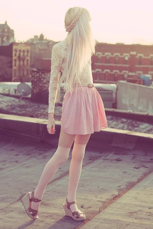 light pink American Apparel skirt