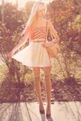 Light-pink-rebecca-minkoff-bag-white-chiffon-american-apparel-skirt