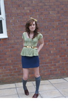The Attic scarf - Topshop t-shirt - The Attic belt - H&M skirt - Topshop shoes