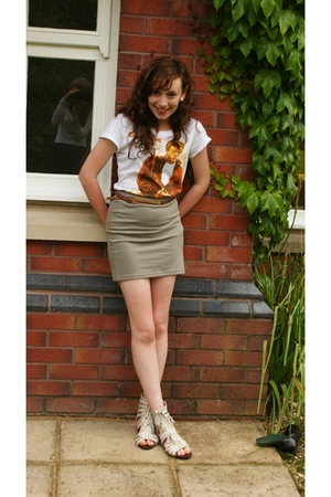 H&M t-shirt - H&M skirt - H&M belt - River Island shoes