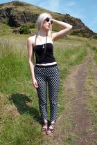 silver Urban Outfitters necklace - white Primark sunglasses - navy H&M pants