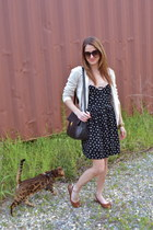 Urban Outfitters dress - Forever 21 sweater - vintage bag Henri Bendel bag - Ros