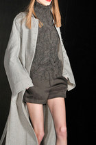 grey Theyskens Theory coat - knit Theyskens Theory sweater - grey Theyskens Theo