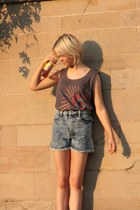 Missguided shorts - bright colors Primark t-shirt