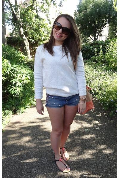 ae8db42f6c3 Topshop shorts - Chanel sunglasses - Primark sandals - Topshop jumper