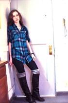 diba girl boots - xhilaration leggings - Drill Clothing Company shirt