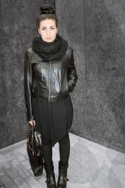 Leonardo boots - Zara jacket - Mango leggings - david jones bag