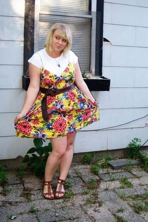 American Apparel t-shirt - Mossimo dress - Walmart shoes - Target belt - Forever