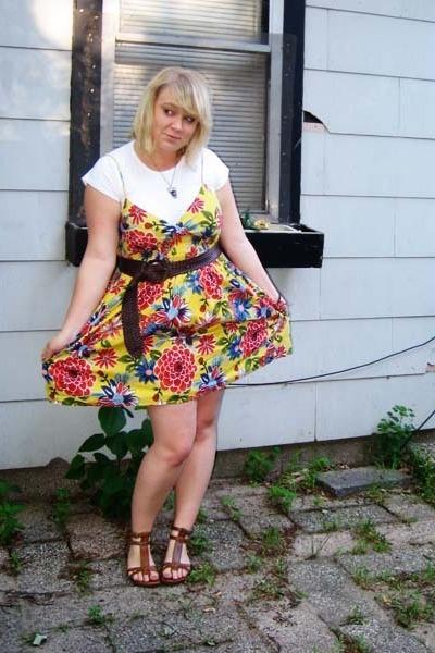 6cb96b2f776 American Apparel t-shirt - Mossimo dress - Walmart shoes - Target belt -  Forever