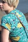 Turquoise-blue-banana-print-vintage-t-shirt