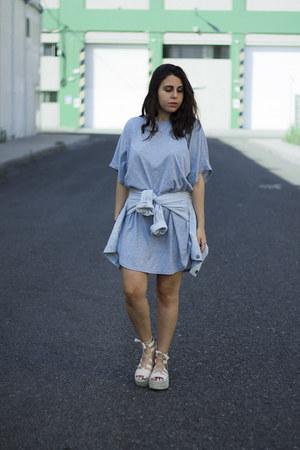 silver sammydress dress - light blue Shana jacket