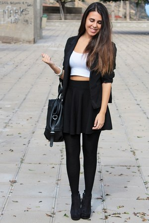 black Lefties blazer - black Mulaya bag - black Oasapcom skirt