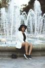 Black-zaful-hat-white-h-m-blazer-black-zaful-shirt-black-zaful-shorts