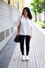 White-sammydress-shoes-black-parfois-bag-black-primark-pants