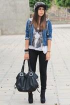 black Oasapcom hat - navy Oasapcom jacket - black Mulaya bag - black H&M pants