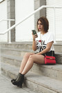 Black-marypaz-boots-white-zaful-shirt-red-dresslily-bag-black-zaful-skirt