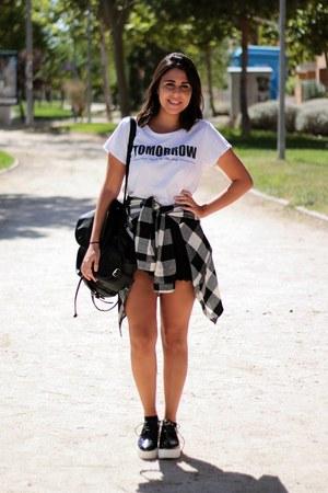 black Local store shoes - silver Mulaya shirt - white Lefties shirt