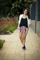black Encuentro shirt - white Stradivarius blazer - brick red Rosegal shorts