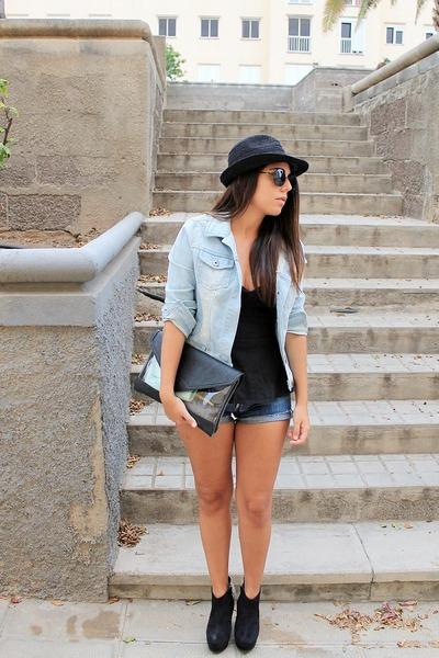 black BLANCO top - black Marypaz boots - black BLANCO hat