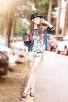 gold BangGood shorts - dark gray chiffon us25 BangGood t-shirt