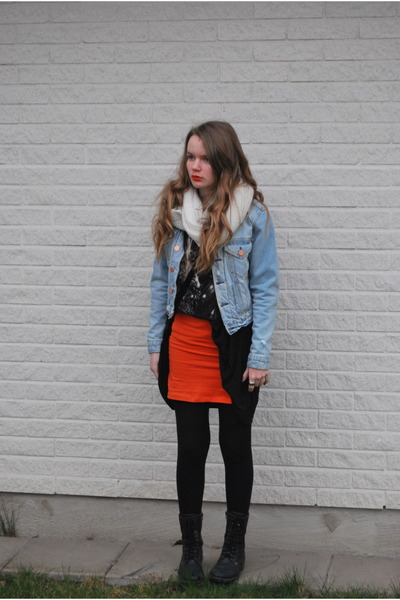 Carrot Orange Orange Hu0026M Skirts Light Blue Jeans Acne Jackets | U0026quot;my Birthday Outfitu0026quot; By ...