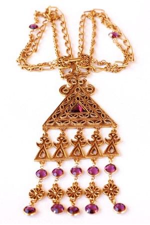 Vintage Goldette Amethyst necklace