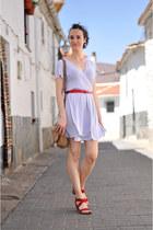 red suiteblanco belt - ivory dotted Silvia Balmaseda dress