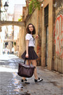 Black-brogues-clarks-shoes-crimson-xl-zara-bag
