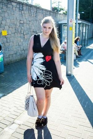 black desigual dress - black Ralph Lauren flats