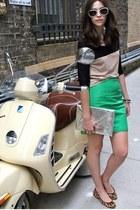 white Express sunglasses - silver H&M bag - mustard lauren ralph lauren flats
